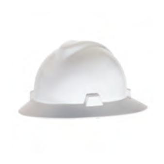 <p> MSA V-Gard® Protective Hats - White</p>