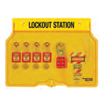 <p> PADLOCK STATIONS</p> <p> Includes station 1483B; 10 - 410RED; 2- 420; 24- 497A tags</p>
